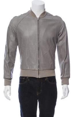 Maison Margiela 2007 Perforated Leather Bomber Jacket