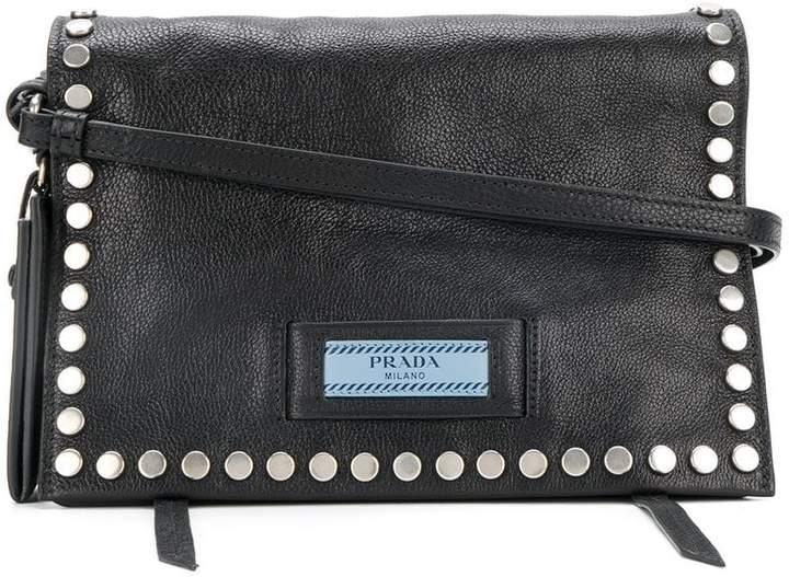 Prada Etiquette studded shoulder bag