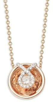 Aura 14K Rose Gold & Diamond Small Charity Symbol Pendant Necklace