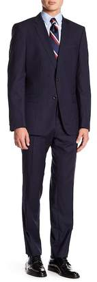 BOSS Genius Woven Notch Collar Flat Front Pants 2-Piece Suit