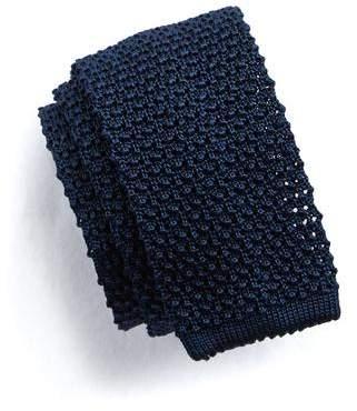 Todd Snyder Classic Knit Silk Tie in Navy