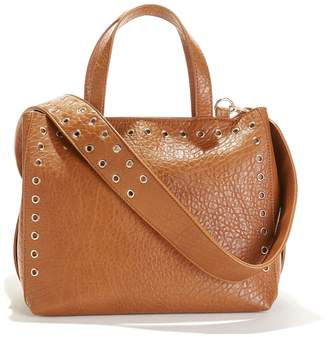 La Redoute Collections Handbag with Eyelet Detail