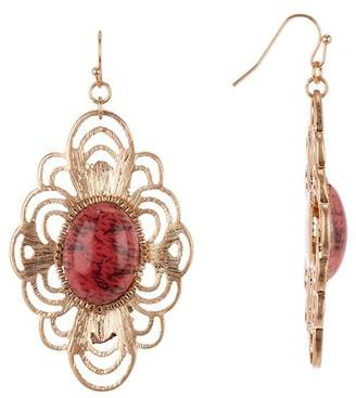 Melrose and Market Stone & Metal Statement Dangle Earrings