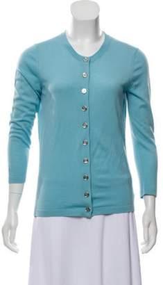 Michael Kors Wool Button-Up Cardigan blue Wool Button-Up Cardigan