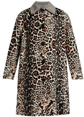 b2406bd6fb76 Bottega Veneta Leopard Print And Suede Collar Coat - Womens - Animal