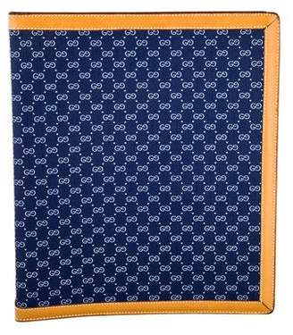 Gucci Leather-Trimmed Monogrammed Agenda Cover