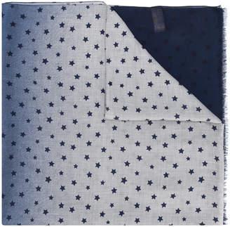 Altea frayed hem star print scarf
