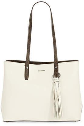 Calvin Klein Maggie Soft Leather Tote