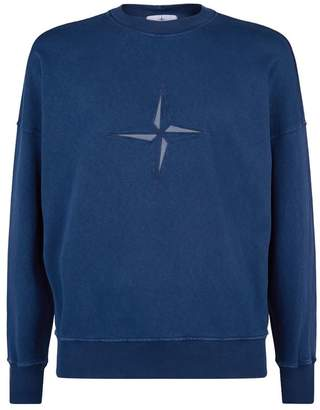 Stone Island Mirrored Logo Sweatshirt