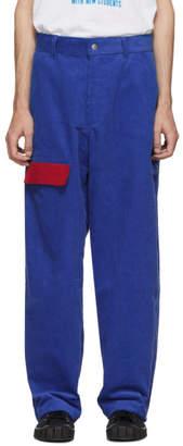 Landlord Navy Corduroy Flight Trousers