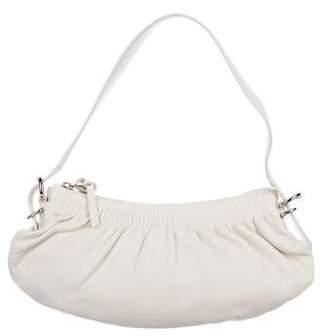 Miu Miu Pleated Leather Shoulder Bag