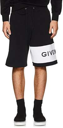 Givenchy Men's Logo-Embroidered Cotton Shorts