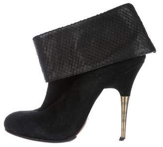 Elizabeth and James Suede Ankle Cuff Booties