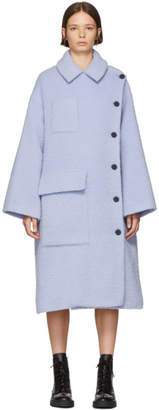 Kenzo Purple Long Button Coat