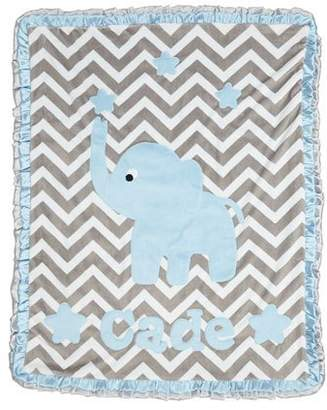 Boogie Baby Personalized Big Foot Elephant Plush Blanket, Gray