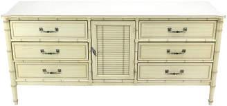 One Kings Lane Vintage Midcentury Faux-Bamboo Dresser - Vintage Bella Home