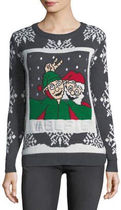 Chelsea & Theodore Elfie Snowflake Christmas Sweater