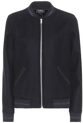 A.P.C. Larissa wool-blend bomber jacket