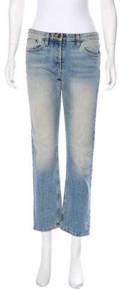 The Row Mid-Rise Cropped Jeans