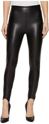 Blank NYC Vegan Leather Pull-On Stirrup Leggings in Black Mail Women's Casual Pants