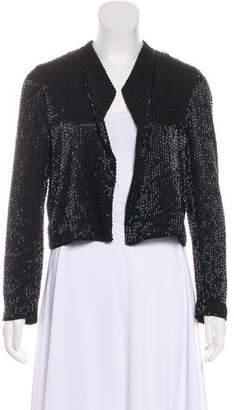 Alice + Olivia Sequin Silk Jacket