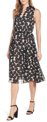 Women's Anne Klein Print Drawstring Midi Dress $119 thestylecure.com