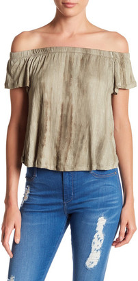 PLANET GOLD Off-the-Shoulder Knit Blouse $12.97 thestylecure.com
