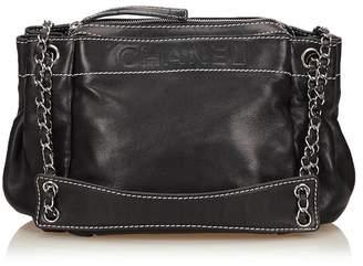 Chanel Vintage Lambskin Leather Shoulder Bag