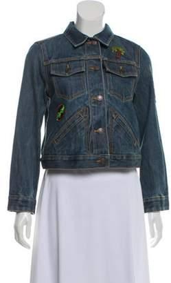 Marc Jacobs Denim Applique Jacket blue Denim Applique Jacket