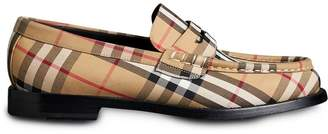 Burberry Vintage Check Cotton Loafers