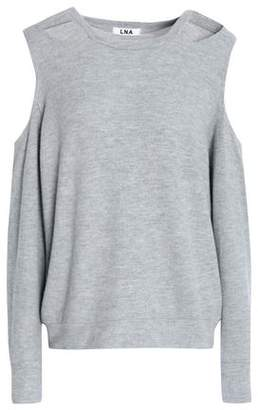 LnA Cutout Stretch-Knit Sweater