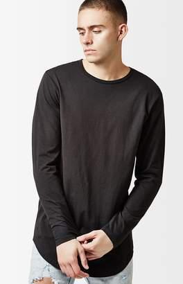 Pacsun Engel Long Sleeve Scallop T-Shirt