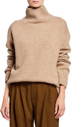 Vince Cashmere Double-Slit Turtleneck Sweater