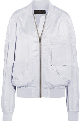 Haider Ackermann - Satin Bomber Jacket - Light gray $1,500 thestylecure.com