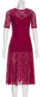Nina Ricci Lace Midi Dress