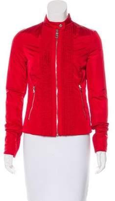 Prada Sport Zip-Up Ruffle Jacket