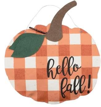 Glory Haus Hello Fall Burlap Pumpkin Wall Hanging
