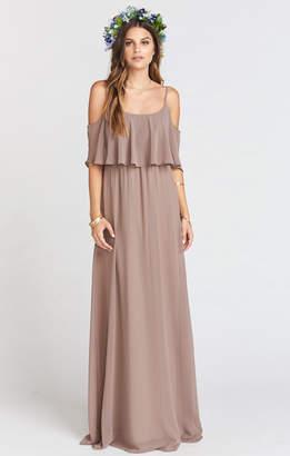 Show Me Your Mumu Caitlin Ruffle Maxi Dress ~ Dune Chiffon