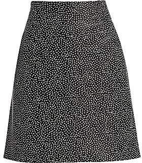Akris Punto Women's Pastina Printed Leather Skirt