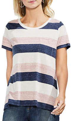 Vince Camuto Short-Sleeve Striped Tee