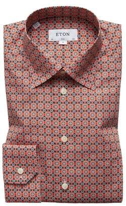 Eton Slim Fit Floral Geometric Dress Shirt