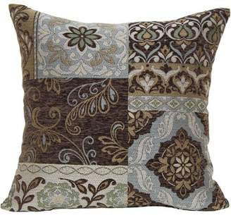 Better Homes & Gardens Better Homes and Gardens Blue and Brown Floral Decorative Pillow