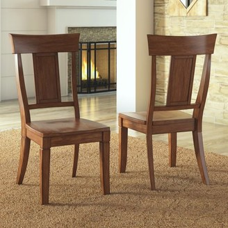 Inspire Q Weston Home Farmhouse Dining Chair with Panel Back (Set of 2)