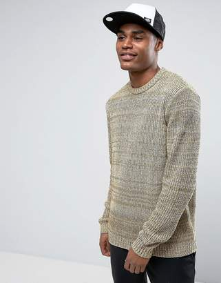 Asos Design Relaxed Fit Sweater In Black & Yellow Twist