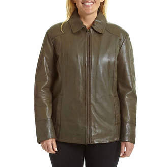 JCPenney Excelled Leather Excelled Scuba Jacket - Plus