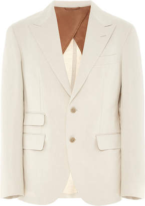 91a65170a Camoshita Cotton And Linen-Blend Blazer