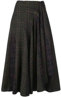 Rosie Assoulin checked asymmetric midi skirt