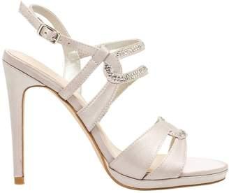 Le Château Women's Jewelled Satin Platform Sandal