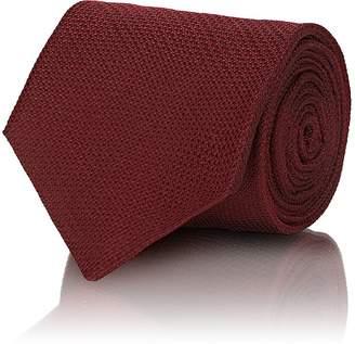 Isaia Men's Silk Canvas Necktie