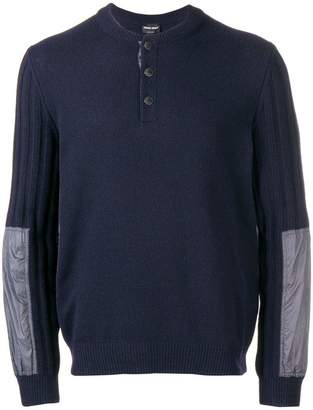Giorgio Armani ribbed sleeve sweater